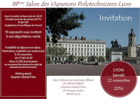 Salon des Polytechniciens vignerons - Lyon 2014